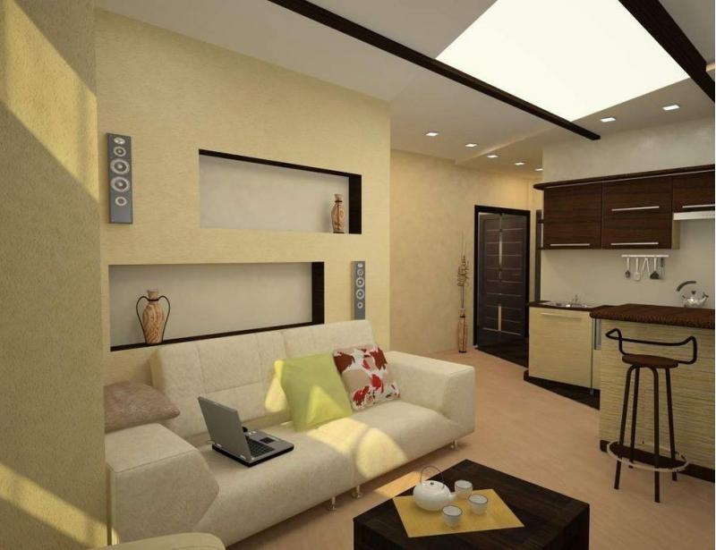 Дизайн для квартиры студии 26 кв.м фото
